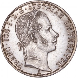 House of Habsburg - Franz Joseph I. (1848-1916) 1 Florin / Gulden 1861 A