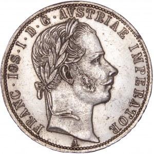 House of Habsburg - Franz Joseph I. (1848-1916) 1 Florin / Gulden 1862 A