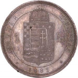 House of Habsburg - Franz Joseph I. (1848-1916) 1 Florin / Gulden 1881 KB