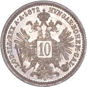 House of Habsburg - Franz Joseph I. (1848-1916) 10 Kreuzer 1872