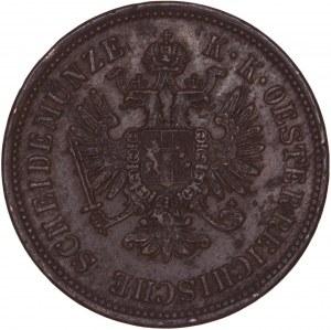 House of Habsburg - Franz Joseph I. (1848-1916) 4 Kreuzer 1860 A