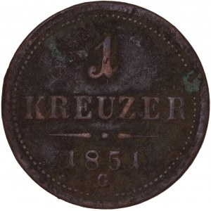 House of Habsburg - Franz Joseph I. (1848-1916) Kreuzer 1851 G