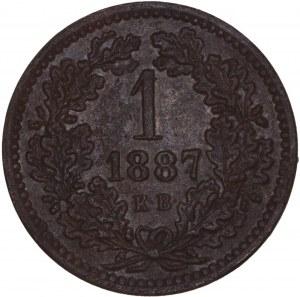 House of Habsburg - Franz Joseph I. (1848-1916) 1 Kreuzer 1887 KB