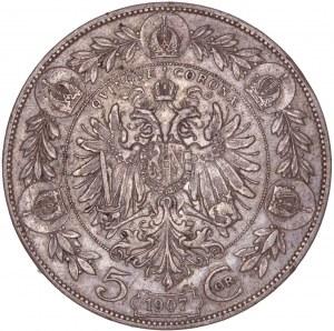 House of Habsburg - Franz Joseph I. (1848-1916) 5 Kronen 1907