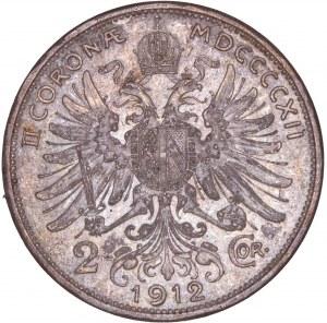 House of Habsburg - Franz Joseph I. (1848-1916) 2 Kronen 1912