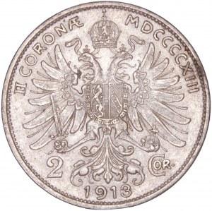 House of Habsburg - Franz Joseph I. (1848-1916) 2 Kronen 1913