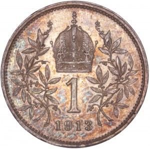 House of Habsburg - Franz Joseph I. (1848-1916) 1 Kronen 1913