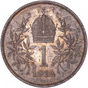 House of Habsburg - Franz Joseph I. (1848-1916) 1 Kronen 1914
