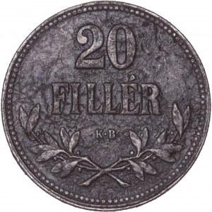 House of Habsburg - Karl I. (1916 -1918) 20 Filler 1917 KB