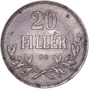 House of Habsburg - Karl I. (1916 -1918) 20 Filler 1920 KB