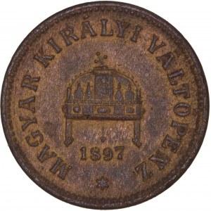 House of Habsburg - Franz Joseph I. (1848-1916) 2 Filler 1897 KB