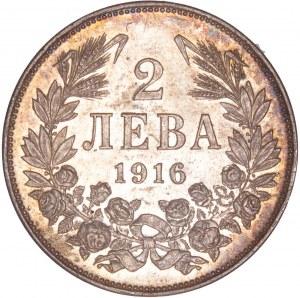 Bulgaria – Ferdinand I. 1916 2 Leva