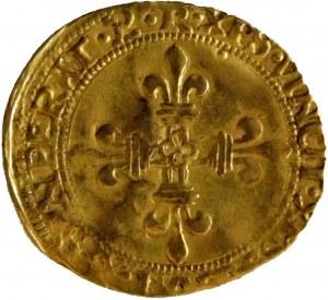France - François I Ecu d'Or au soleil de Bretagne ND (1515-1547)