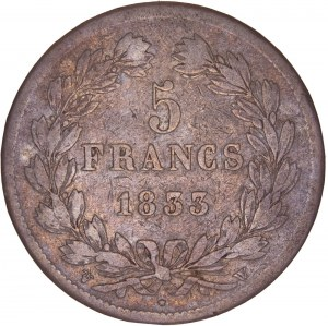 France – Louis Philippe I. - 5 Francs 1833 W
