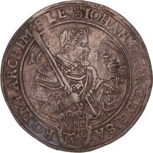 German States - Johann Georg I. und August, 1591-1611.  Reichstaler 1614 Dresden
