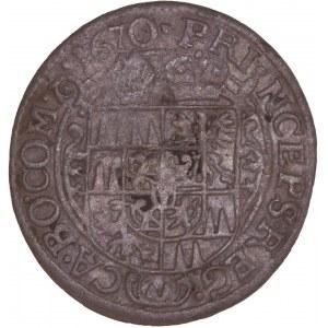 German States - Olmütz. Karl von Liechtenstein (1664-1695) 3 Kreuzer 1670