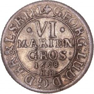 German States - Braunschweig-Lüneburg 1698 6 mariengroschen