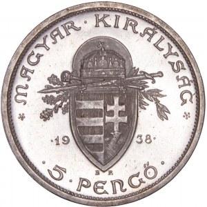 Hungary - Horthy Miklós (1920-1944) St. Stephan 5 Pengő 1938 BP