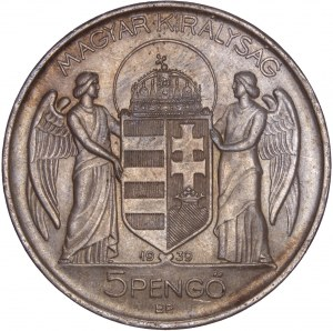 Hungary - Horthy Miklós (1920-1944) 5 Pengő 1939 BP