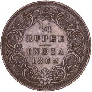 British India – 1862 Silver  ¼ Rupee