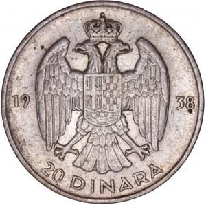 Yugoslavia - 20 Dinara 1938