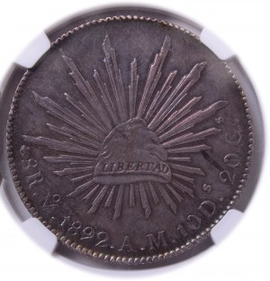 Mexico - Republic 8 Reales 1892 Mo-AM