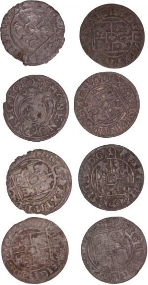 Poland – Sigismund III – 1/24 Thaler / 3 Polker LOT – 8 pcs