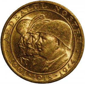 Romania - Honoring the 'three Romanian kings' 1944 20 Lei