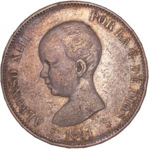 Spain - Alfonso XIII (1886-1898) - 5 Pesetas 1891