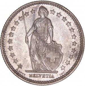 Switzerland - 2 Francs 1921 B