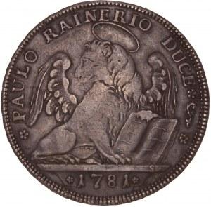 Italian States – Venice - Paolo Renier (1779-1789) Tallero 1781