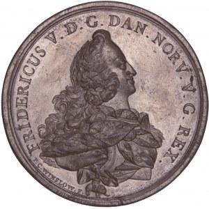Dänemark, Galvano der Medaille 1752