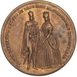 Hungary – Franz Joseph & Elizanbeth Coronation in Buda 1867 token / jeton