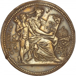 Hungary – Franz Joseph – Millenal – Copper Medal 1896