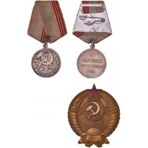 Russia / CCCP / Soviet Order, Badge LOT – 3 pcs