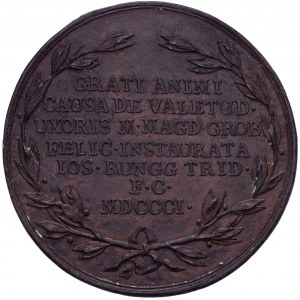 Zürich, Bronzierter Galvano der Medaille 1801