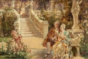 Paweł Merwart (1855 Marianówka - 1902 Saint-Pierre), Lektura w parku