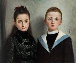 Francois Baron (1879-1963), Para dzieci, 1901 r.