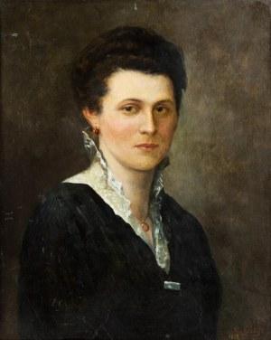 MN sygnowany nieczytelnie (XIX/XX w.), Portret kobiety