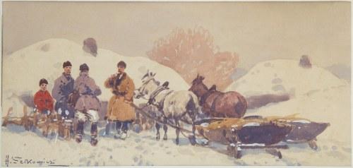 Adam Setkowicz (1875 Kraków - 1945 tamże), Wyjazd na targ