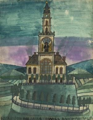 Nikifor Krynicki (1895 Krynica-1968 Folusz), Budowla z wieżą