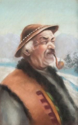 MN (I poł. XX w.), Portret górala z fajką