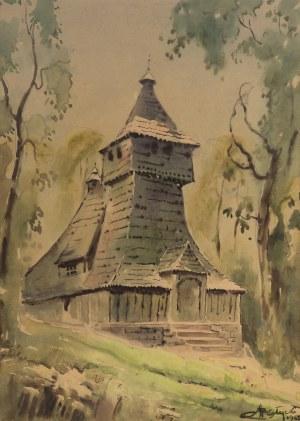 Adam Batycki (1886-1970), Kościół Św. Marcina w Grywałdzie, 1965 r.