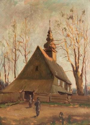Tadeusz Zamiar (1905-1966), Przed drewnianym kościółkiem