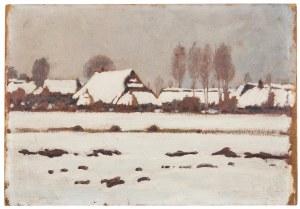 Stanisław Czajkowski (1878 Warszawa - 1954 Sandomierz), Pejzaż zimowy, 1917 r.