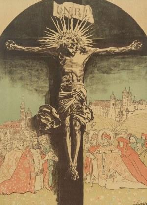 Leon Wyczółkowski (1852 Huta Miastkowska k. Garwolina - 1936 Warszawa), Krucyfiks królowej Jadwigi na Wawelu, 1915 r.