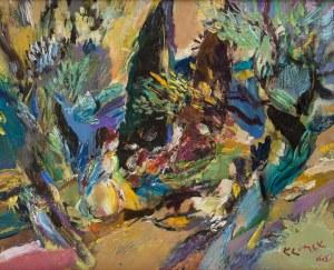 Ludwik Klimek (1912 Skoczów - 1992 Nicea), Scena w pejzażu, 1966 r.