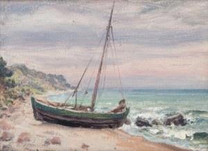 Stefan Pieniążek (1888-1958), Łódź na brzegu