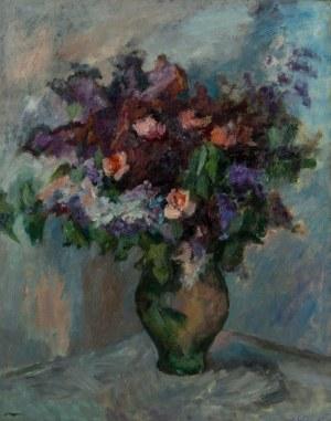Irena Hassenberg (1884 Warszawa - 1953 Paryż), Kwiaty w wazonie, 1959 r.