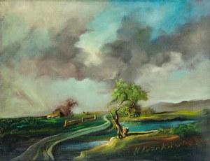 Henryk Kozakiewicz (1936-1985), Pejzaż z chatą